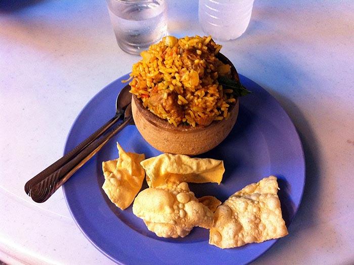 Comiendo en Malasia