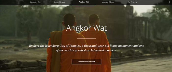 Los Templos de Angkor en Camboya como nunca los habías visto en Google Street View