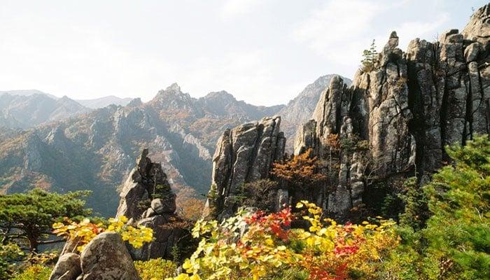 Montaña Seoraksan corea del sur