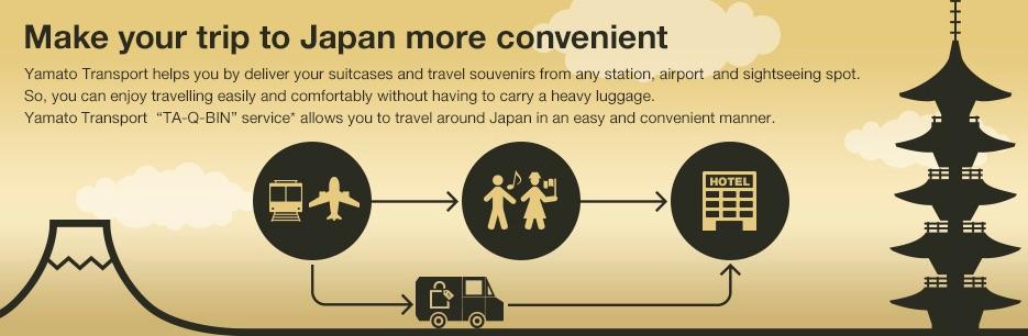 Cómo enviar tus maletas entre hoteles o desde/hasta el aeropuerto en Japón