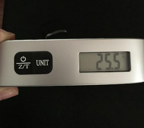 Báscula digital de Etekcity para pesar equipajes