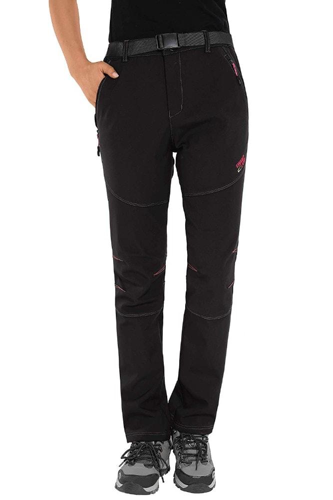 Los mejores pantalones para ir a un ambiente frío: HAINES Pantalon Trekking Mujer Impermeable