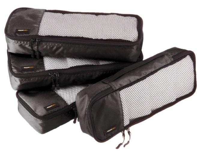 AmazonBasics - Bolsas de equipaje alargadas (4 unidades)
