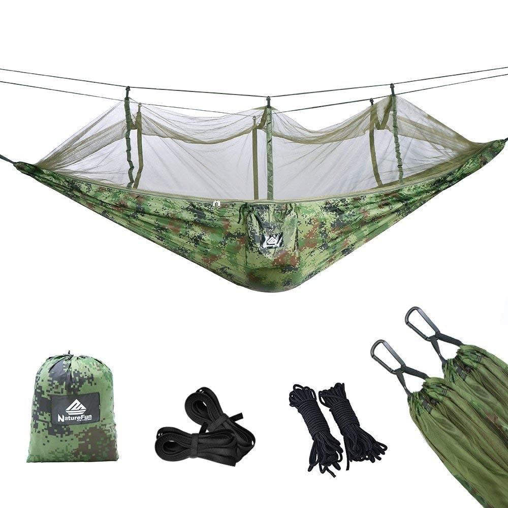 Hamaca ultra Ligera para viajes y camping con mosquitera de NatureFun