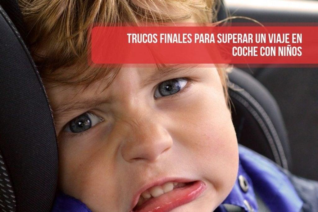 Trucos finales para superar un viaje en coche con niños
