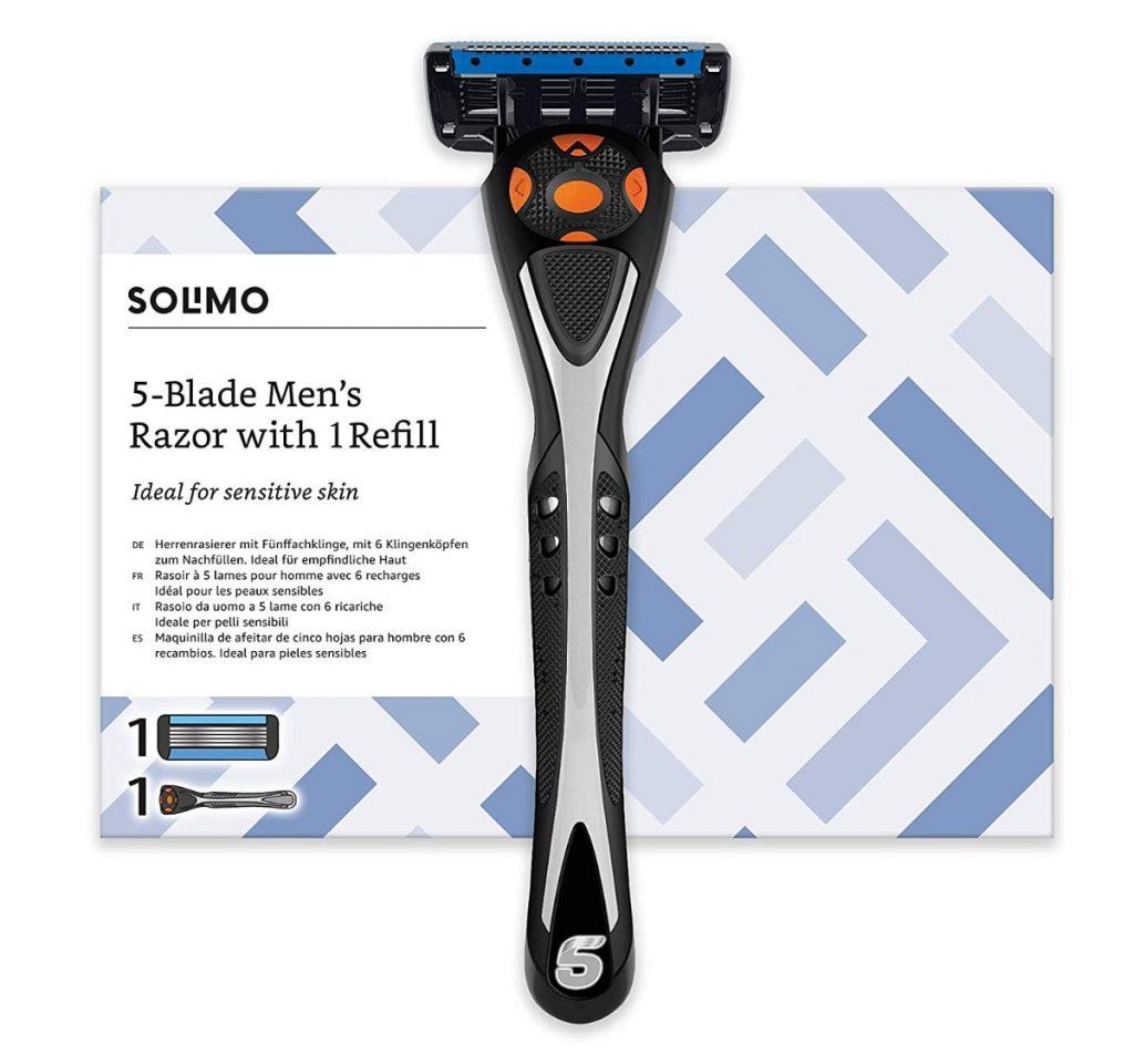 La maquinilla de afeitar más barata: Solimo Maquinilla de afeitar de cinco hojas para hombre con 1 recambio