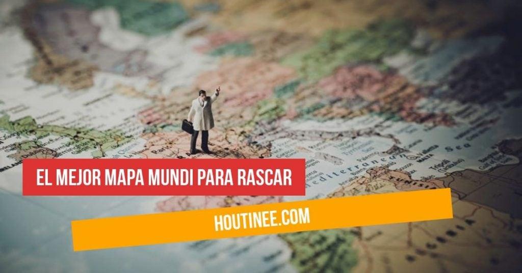 El mejor Mapa Mundi para rascar los países que has visitado en tus viajes