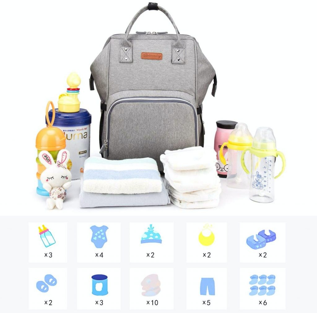 ¿Alguna bolsa de viaje para llevar las cosas de tu bebé recomendada? La mochila de Dinoka
