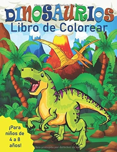 Dinosaurios - Libro de Colorear para niños de 4 a 8 años